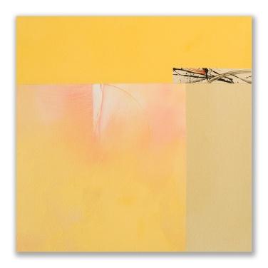"Peach Tree Morning 1: acrylic on canvas, 24"" x 24"""