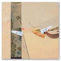 "Sierra Blanca: mixed media on canvas, 16"" x 16"""