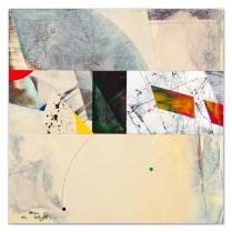 "Stream of Conscious: acrylic on panel, 16"" x 16"""