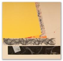 """Trajectory: mixed media on canvas, 20"""" x 20"""""""